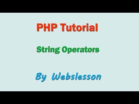 String Operators - PHP Beginner Tutorial