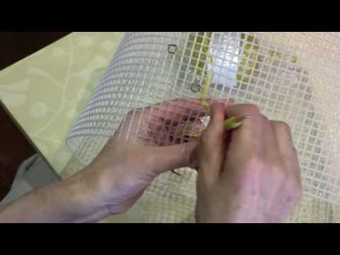 スクエア模様のカゴバック 編み始め