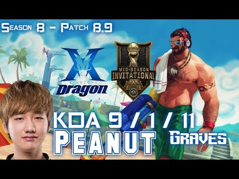 KZ Peanut GRAVES vs DR. MUNDO Jungle - Patch 8.9 EUW Ranked