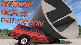 Spinning drum of destruction - BeamNG.drive
