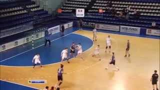 Andrey Dyachenko vs chehovski medvedi.  Handball Goalkeeper