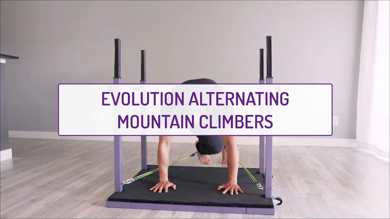 Home Exercises | Evolution Alternating Mountain Climbers | Core & Cardio | Full Body