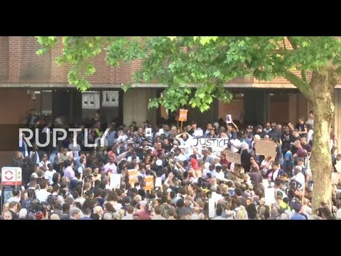 LIVE: Protesters demand 'Justice for Grenfell' on streets of London