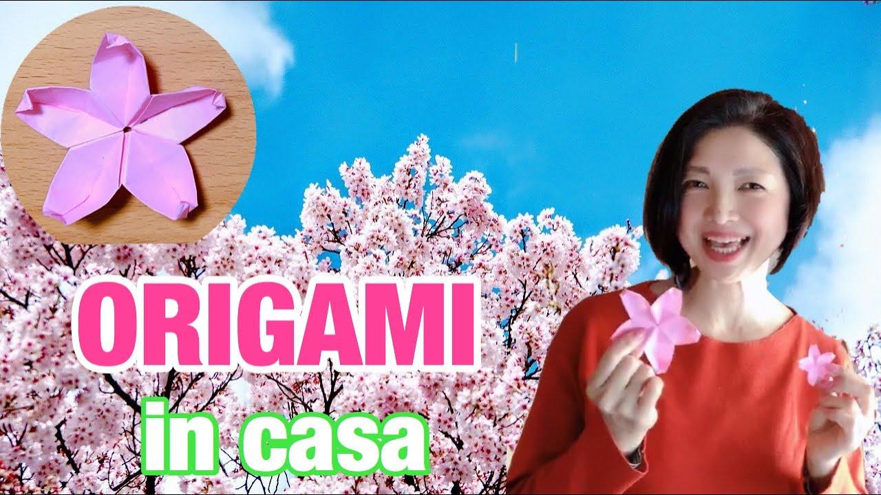 """""""Hanami"""" in casa con ORIGAMI / 桜を折り紙で!お花見気分♪"""