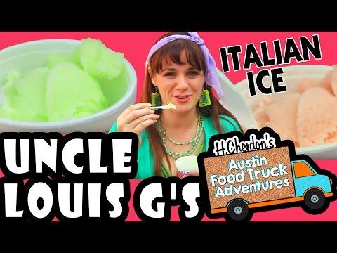 Honeydew & Mango Italian Ice, Uncle Louis G's, Austin Food Truck Adventures 2.43