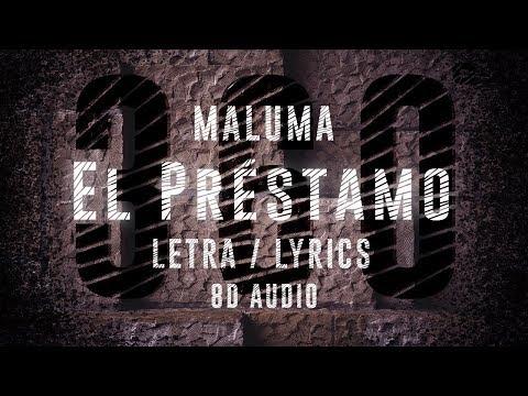Maluma - El Préstamo | 360° Letra ( Lyric Video ) | 8D Audio Version || Dawn of Music ||