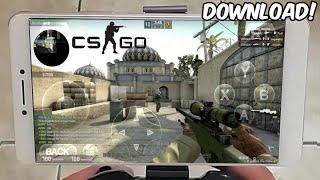INCRÍVEL!! JOGANDO CS:GO ONLINE no CELULAR ANDROID (Gameplay HD) DOWNLOAD EMULADOR de PC