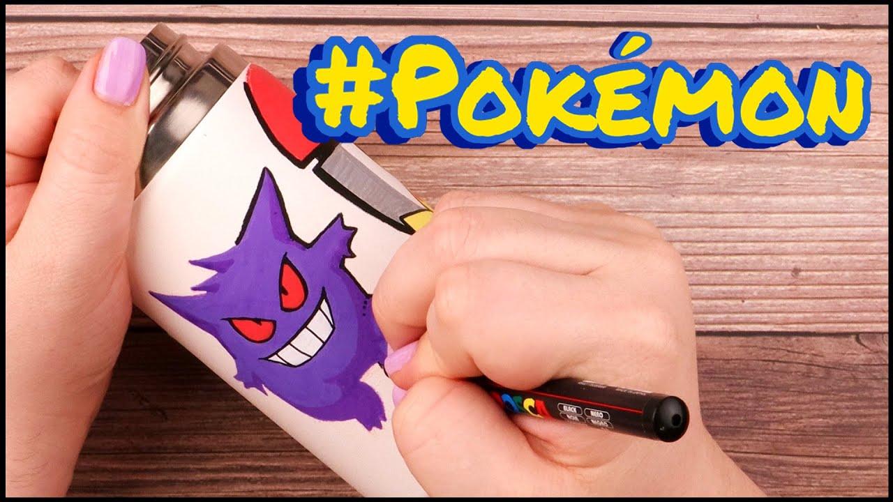 Customizing my Hydro Flask with Pokemon Characters | Posca Pens