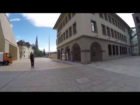 STREET VIEW: Innenstadt von Vaduz im FÜRSTENTUM LIECHTENSTEIN