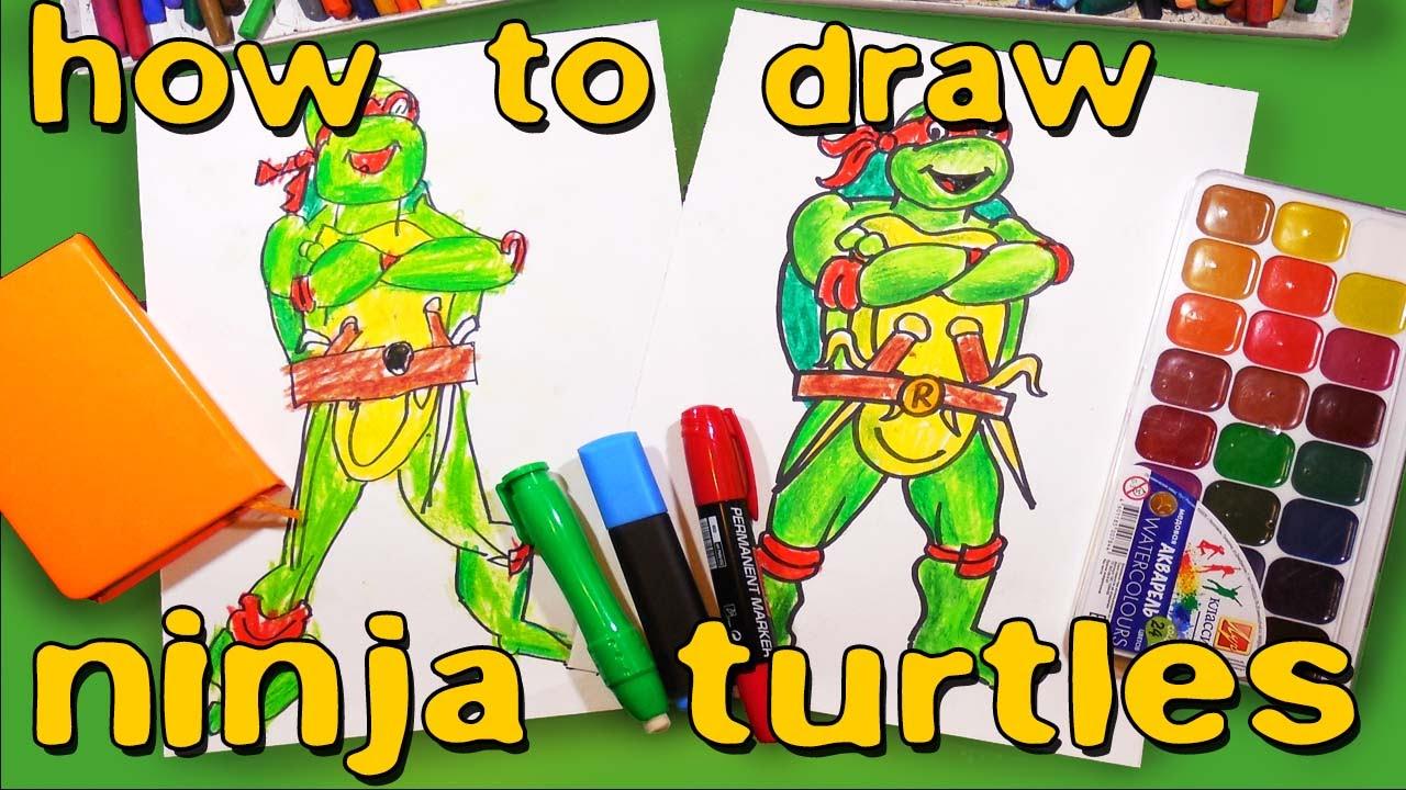how to draw raphael ninja turtle