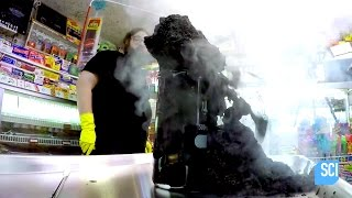 Creating a Carbon Snake Using Sulfuric Acid and Sugar | Street Science