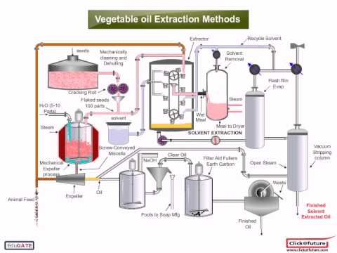 Chemical :CPT vegetable oil extraction method