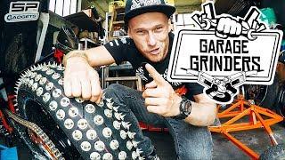 MORE GRIP -  MOTORCYCLE TIRE CHANGE     Garage Grinders EP 1