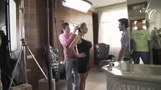 Анна Семенович в мехах от Роксан. Съемка рекламного ролика.