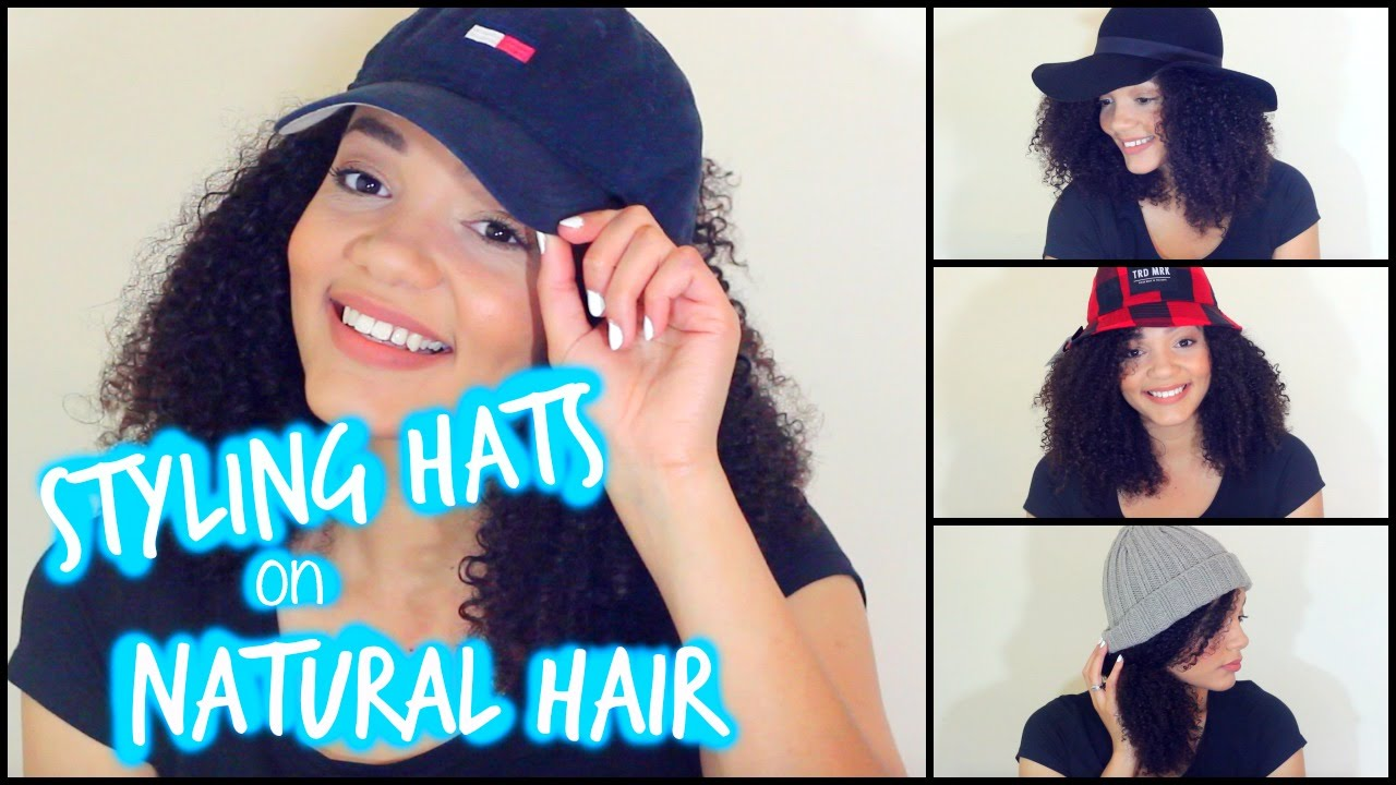 styling hats on natural hair - youtube
