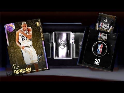 GALAXY OPAL TIM DUNCAN TONY PARKER & MANU + NBA AWARDS PACKS RECYCLED CONTENT NBA 2K19 MYTEAM