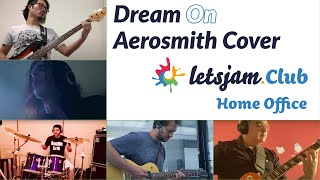 Letsjam.Club Home Office Dream on Aerosmith cover