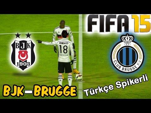 FIFA 15 ile Beşiktaş-Club Brugge  Avrupa Ligi Maçı | Türkçe Spikerli