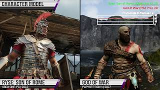 Ryse: Son of Rome vs. God of War Graphics, Animations and Framerate Comparison