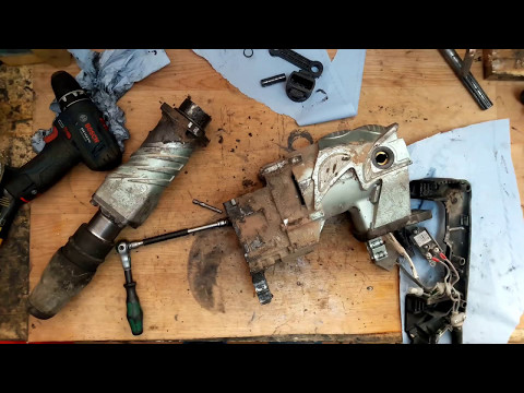 Hitachi H60MR disassemble and problem find armature carbon brushes o-rings ball bearings grease