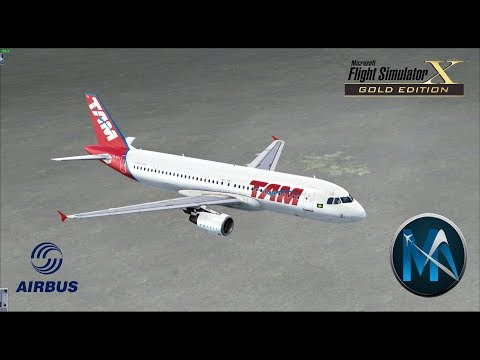 FSX - VOO DE SANTAREM PARA BRASÍLIA (STM-BSB) AIRBUS A320-214 CFM TAM