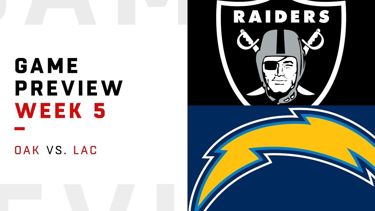 Oakland Raiders vs. Los Angeles Chargers | Week 5 Game ...