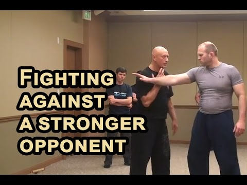 RUSSIAN SYSTEMA of hand to hand combat - Fighting against a stronger opponent