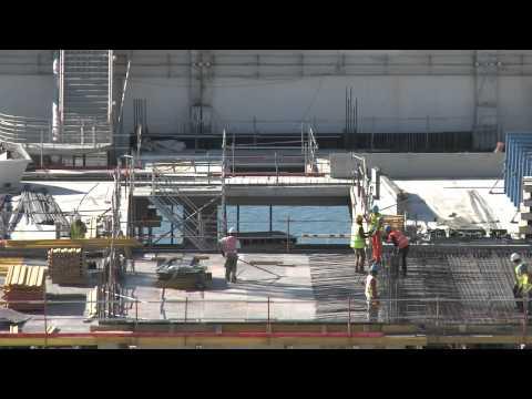 Les Terrasses du Port Construction Time Lapse Video