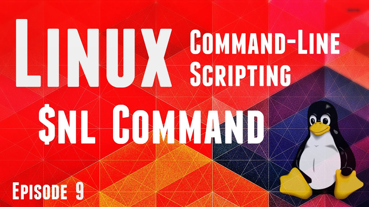line Course Linux CLI Scripting Episode9 $nl mand