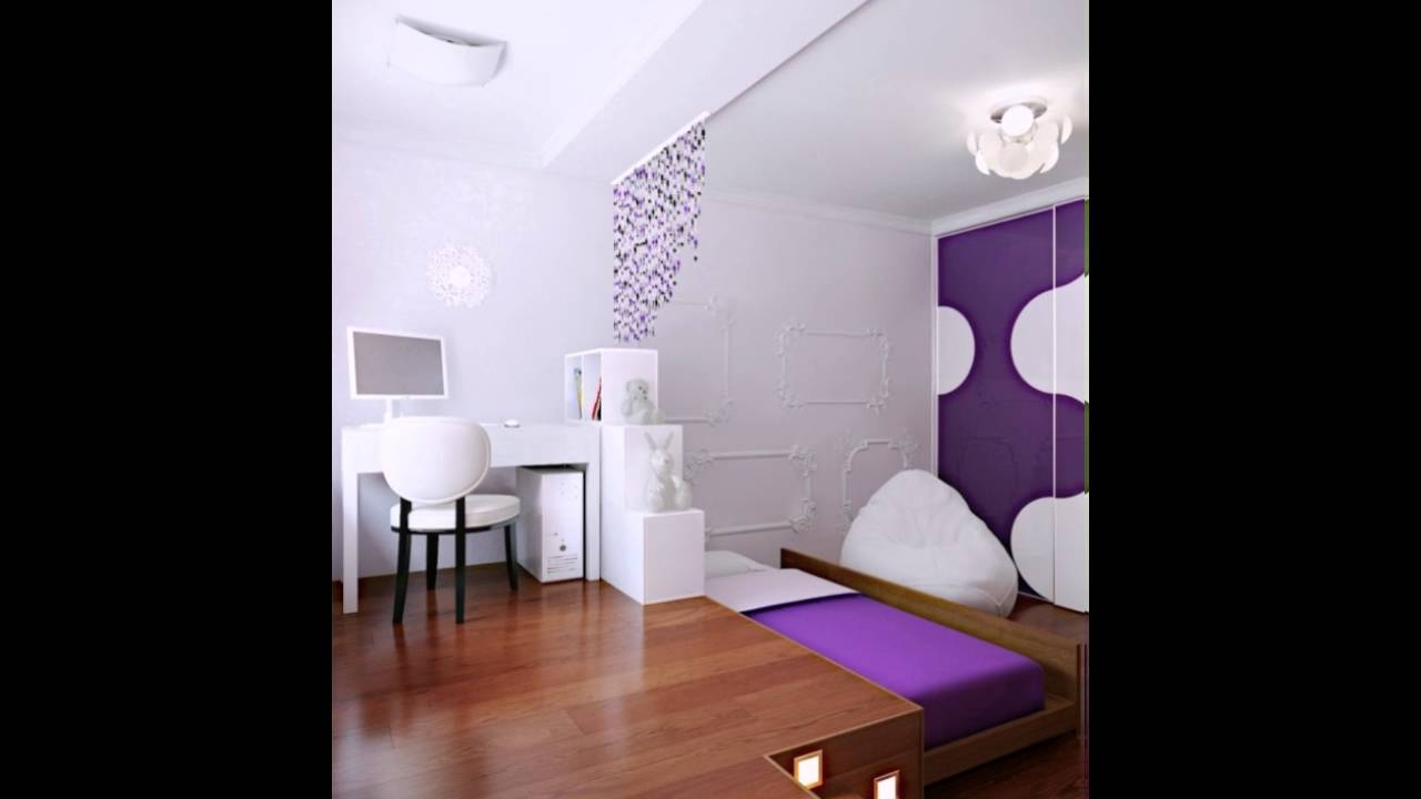 Ein Lila Weiß Modern Schlafzimmer Hideaway Bed