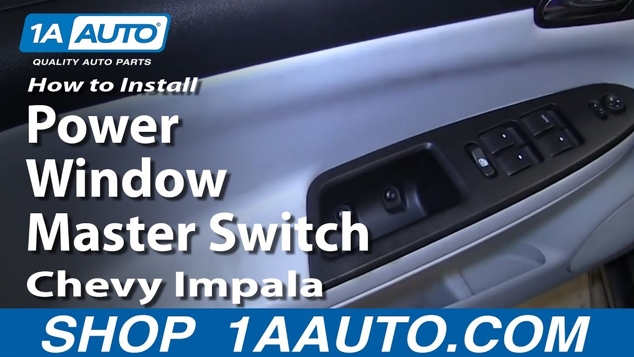 hight resolution of how to install replace drivers power window master switch 2006 12 chevy impala