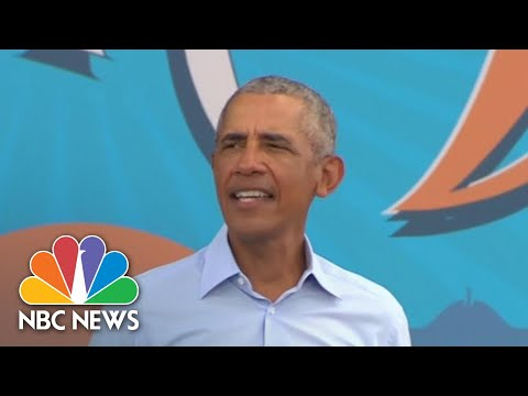 Obama Takes Hard Swings At Trump While Campaigning In Florida | NBC News NOW