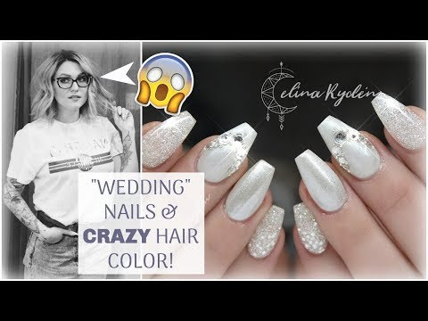 "Salon vlog | ""WEDDING"" GEL NAILS AND CRAZY HAIR COLOR!"