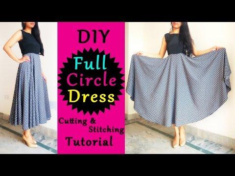 DIY Full Circle Dress | Circle Dress Cutting & Stitching