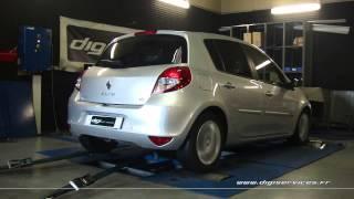 Reprogrammation Moteur Renault Clio 3 1.5 dci 75cv @ 109cv Dyno Digiservices Paris