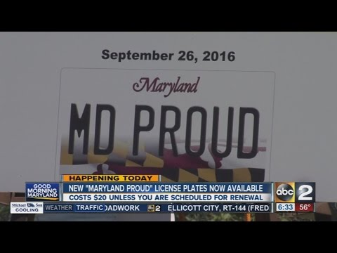 MVA rolls out Maryland Proud license plate
