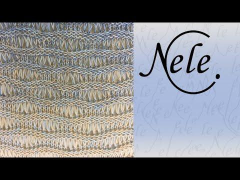 """Anleitung Stricktuch """"Herenge"""" – einfaches Dreieckstuch stricken, DIY by NeleC."""
