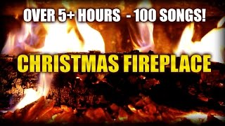 Repeat youtube video Christmas Fireplace HD (Yule Log) with 5+ hours of classic Christmas music (100 Must-Have Songs)
