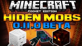 [0.11.0] HIDDEN MOBS! - Ghasts, Magmas & Cave Spiders! - Minecraft Pocket Edition