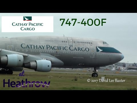 Cathay Pacific Cargo (Silver Bullet) Boeing 747-400(F) Departing London Heathrow