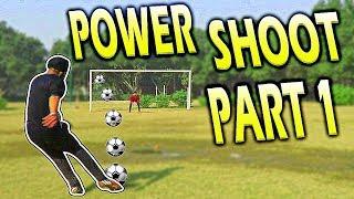 How to shoot / kick Soccer ball with power-Football freekick proper technique tutorial (HINDI)