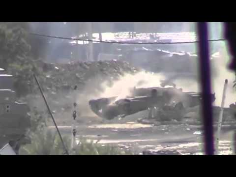 Incoming Tank Shell- Insane Combat Footage!