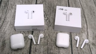 Real vs Fake - Apple Airpods vs i10 TWS