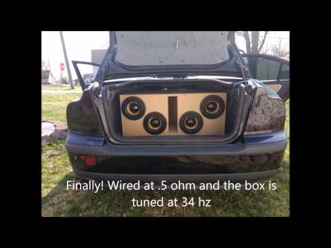 """4 American Bass VFL 8"""" With VFL 2680.1D Amp"""