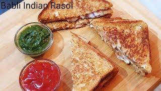 ब्रेड मलाई सैंडविच ऐसे बनाये बिना मेयोनीज  और चीज़  के  - Bread Malai Sandwich