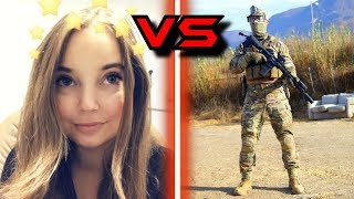 Airsoft 1v1 AGAINST MY GIRLFRIEND!