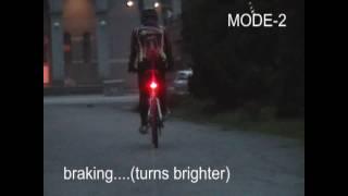 maxxon wireless brake tail light for bikes - night time mode