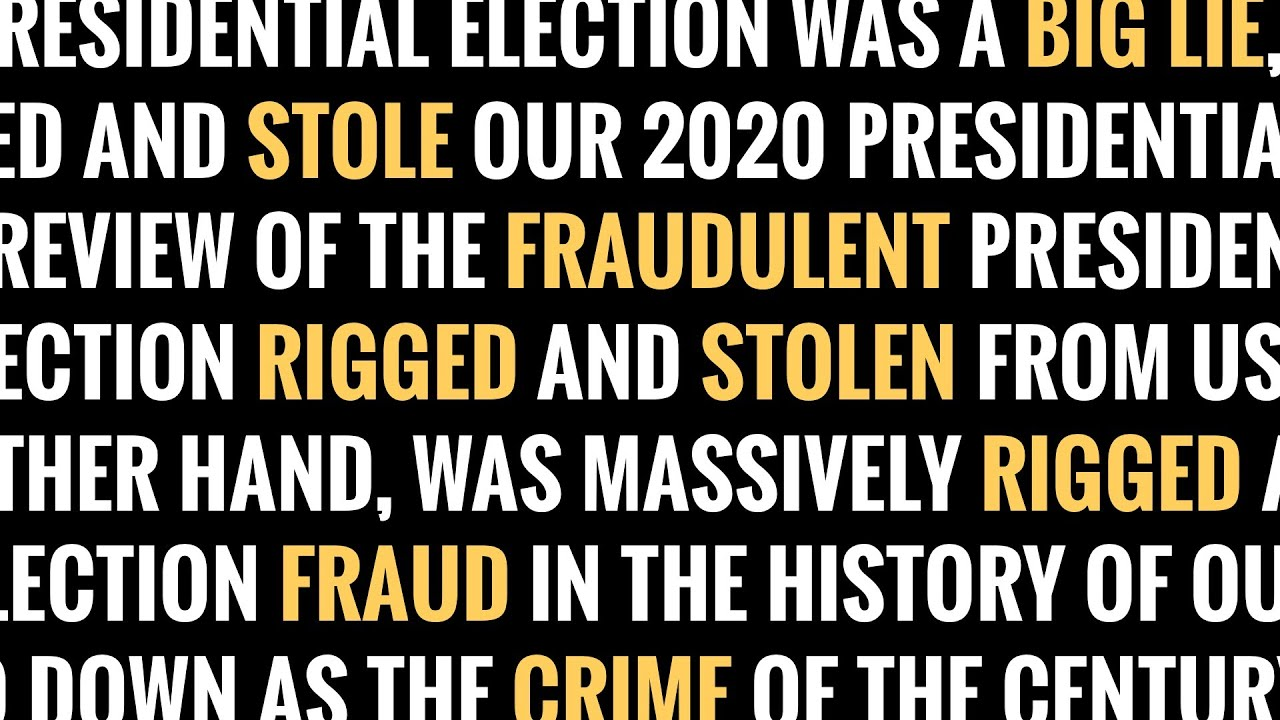 Trump's Still Lying about the 2020 Election
