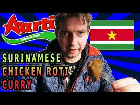 Aarti Surinamese chicken roti curry food review Lombok, Netherlands