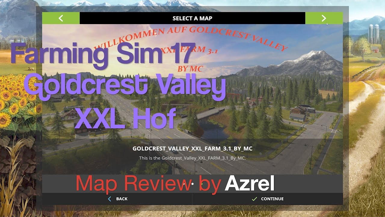 Farming Simulator 17 - Goldcrest Valley XXL Hof - Map Walkthrough